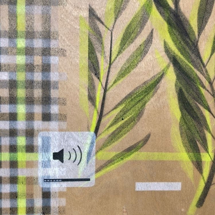 detail, plywood, spraypaint, theYOUNG - theyoung   ello