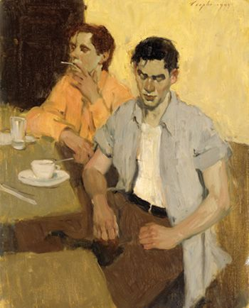 Malcolm Liepke: Men Waiting, 19 - arthurboehm | ello