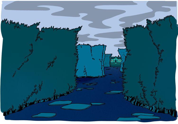 LABYRINTH. piece background art - alexkalomeris | ello
