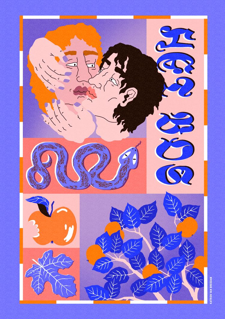 HET BOS - risoprint, illustration - katrienvanbreedam | ello