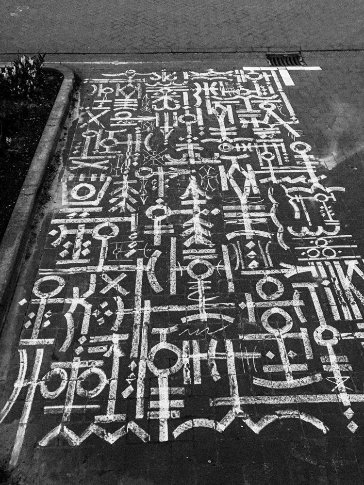 _Artwork | Chalk Bricks chalk k - domi-nique | ello