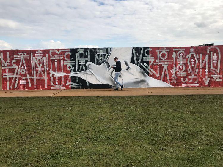 _Painting | Mural showing previ - domi-nique | ello