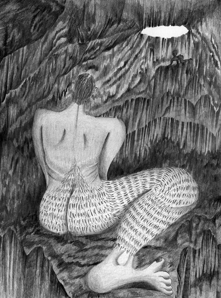 Meeting cave - art, illustration - catrielmartinez   ello