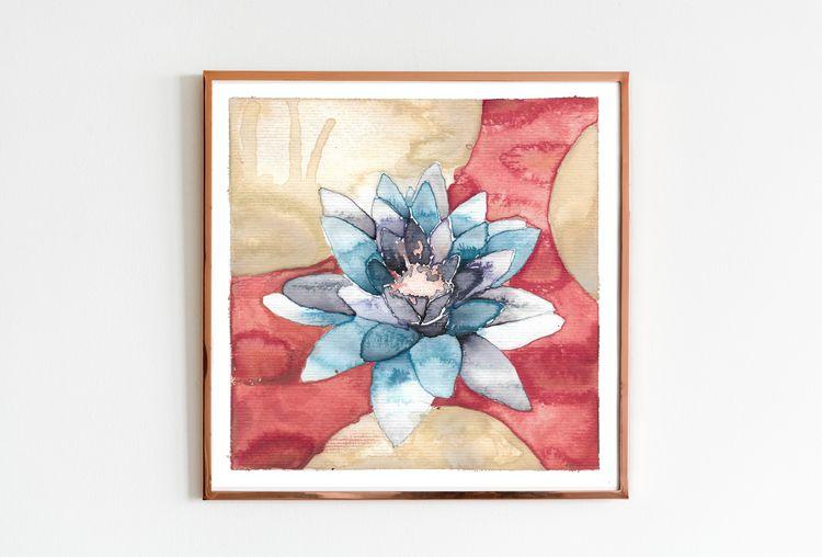 Serie einer Seerose (1/3 - waterlilie - edwnart | ello
