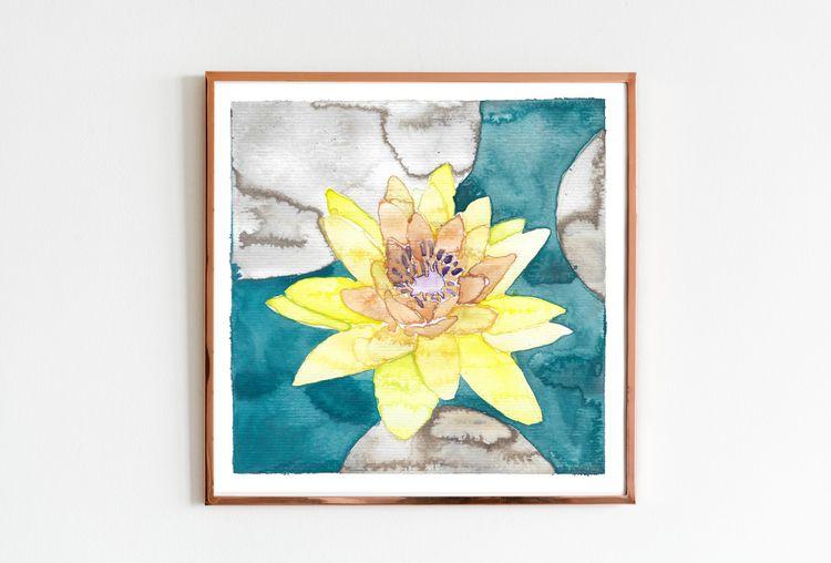 Serie einer Seerose (3/3 - waterlilie - edwnart | ello
