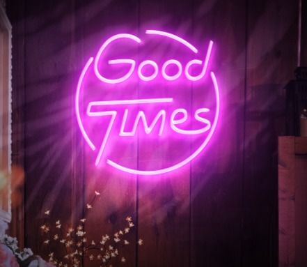 'Good Times' LED Neon sign Gorg - neondirect | ello