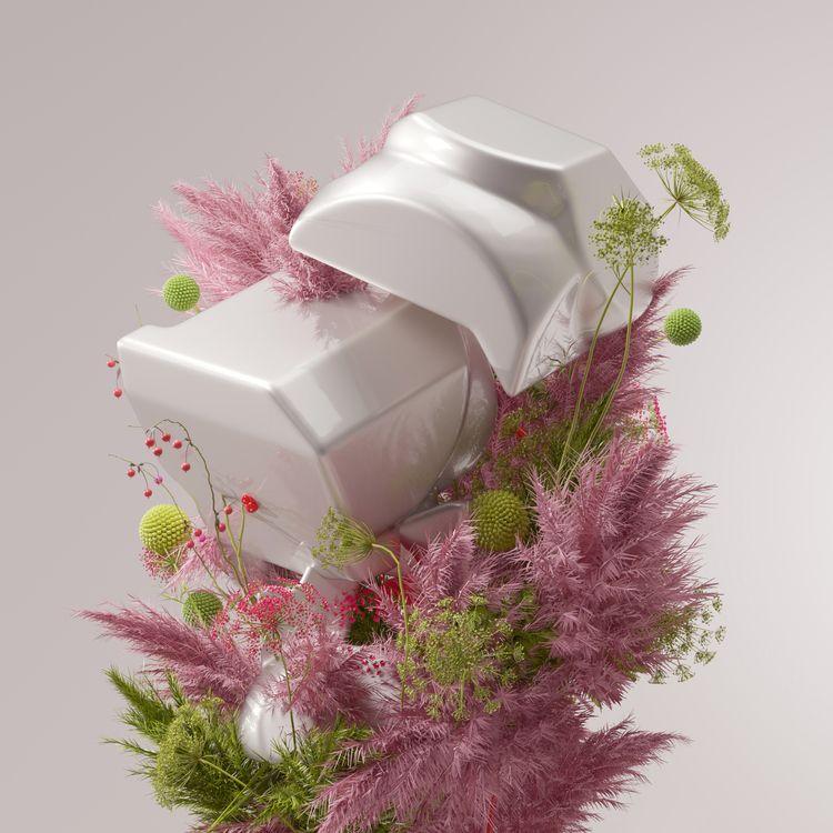 3D, coral, flower, organic, cgi - davidpadilla | ello