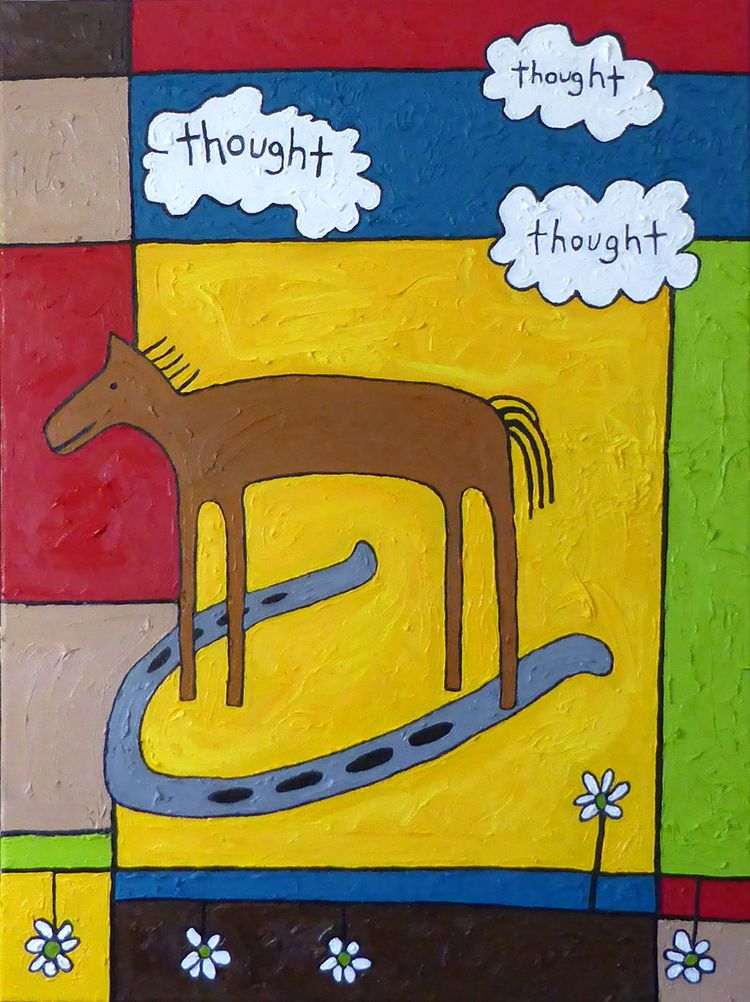 painting: Horse Thoughts, 24 18 - carol_es | ello