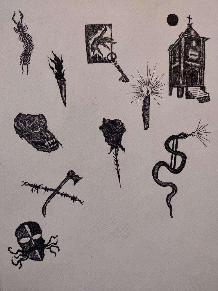 ink, tattoo, blackwork, phnompenh - pushingflowers   ello