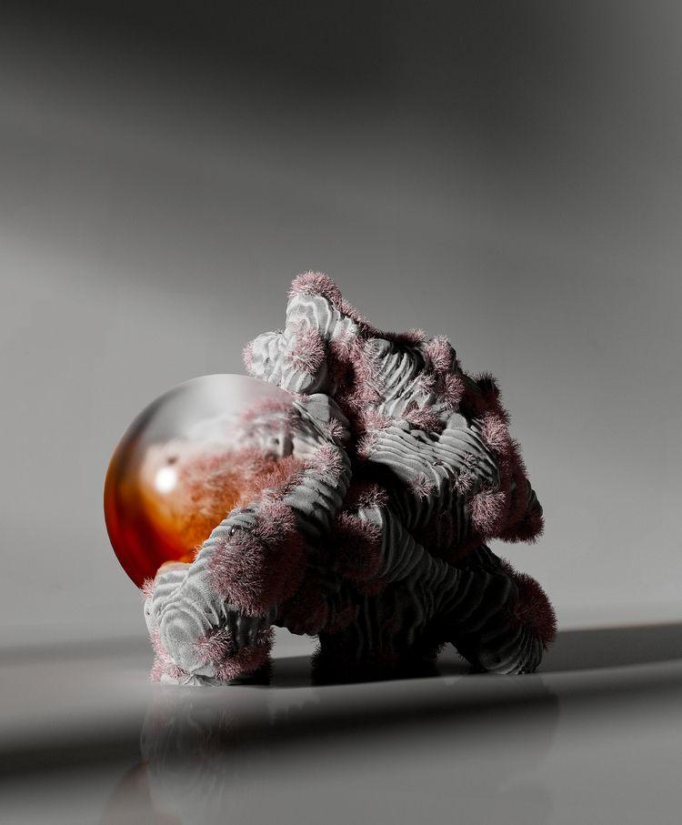 3D, coral, cristal, organic, cgi - davidpadilla | ello