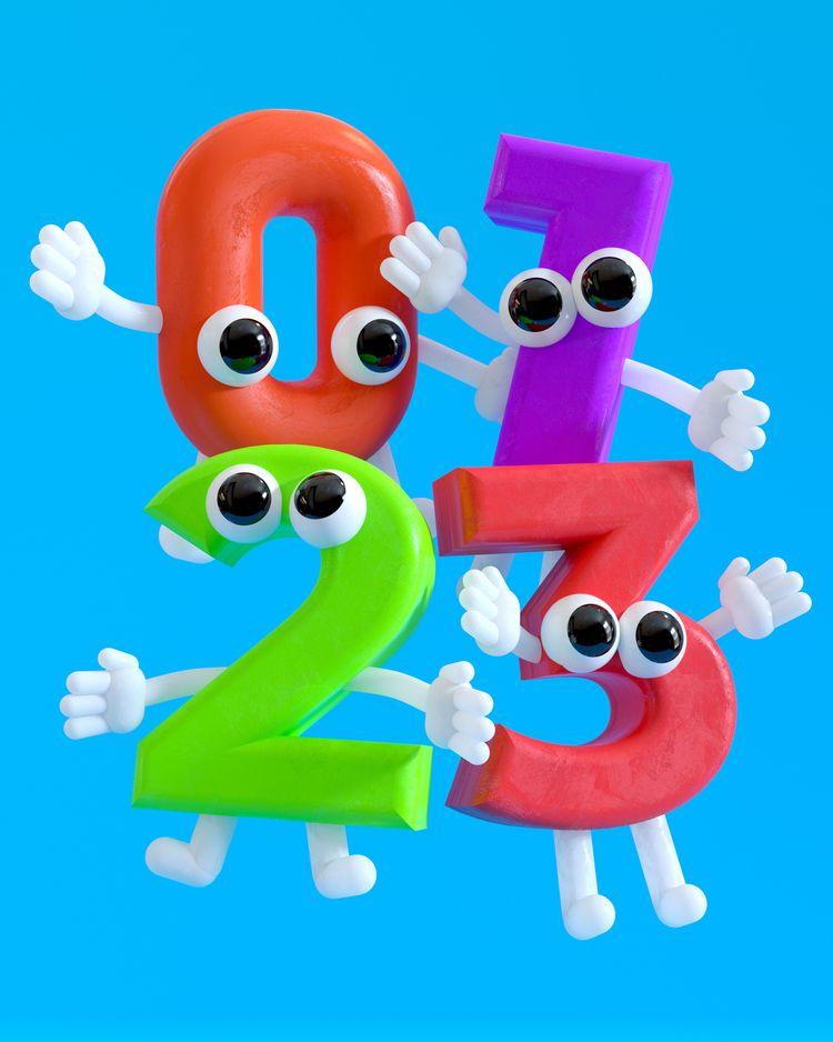Happy Numbers - 3d - hashmukh   ello