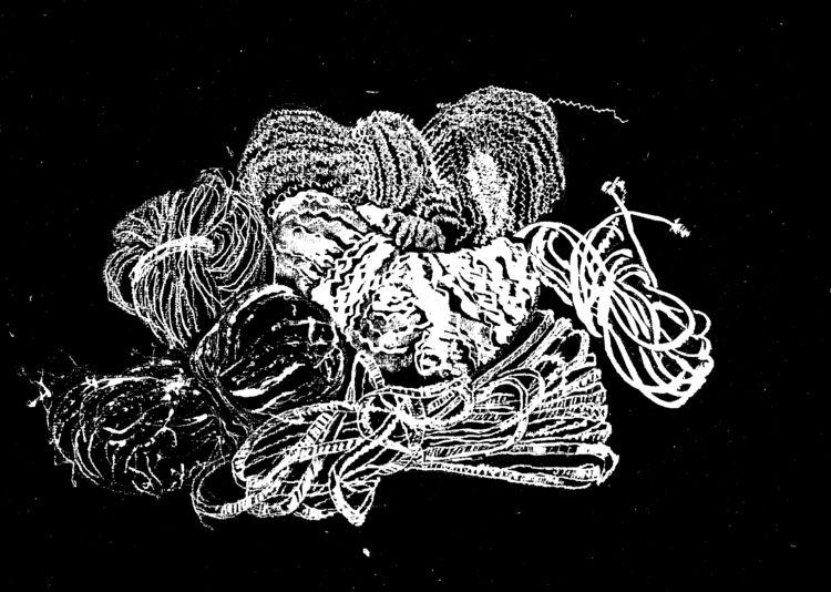 Drawing Types Yarn - drawing, blackandwhite - firehorsetextiles   ello