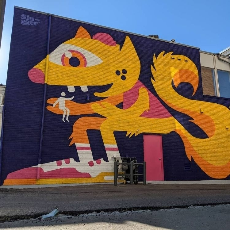 Slugger Studio mural BUMP Festi - camhoff | ello