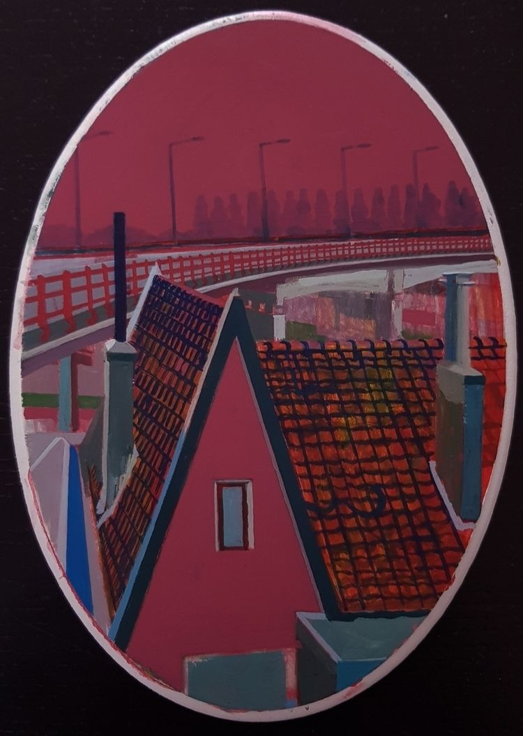 House bridge, 2020. Vinyl Paint - albertzwaan   ello