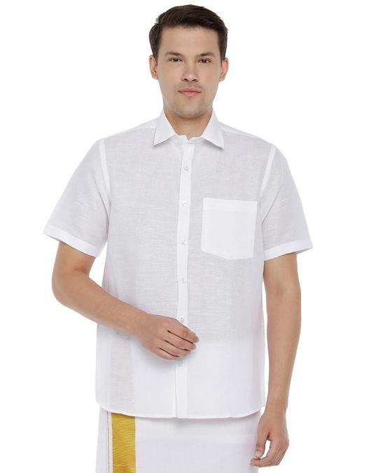 Pure Cotton Shirts Online | Whi - uathayam5 | ello