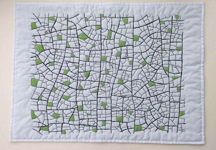 Fragments Textile Wall Hanging - firehorsetextiles | ello