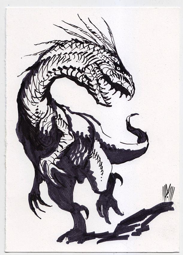 inkdrawing, dinosaur - dlovelace | ello