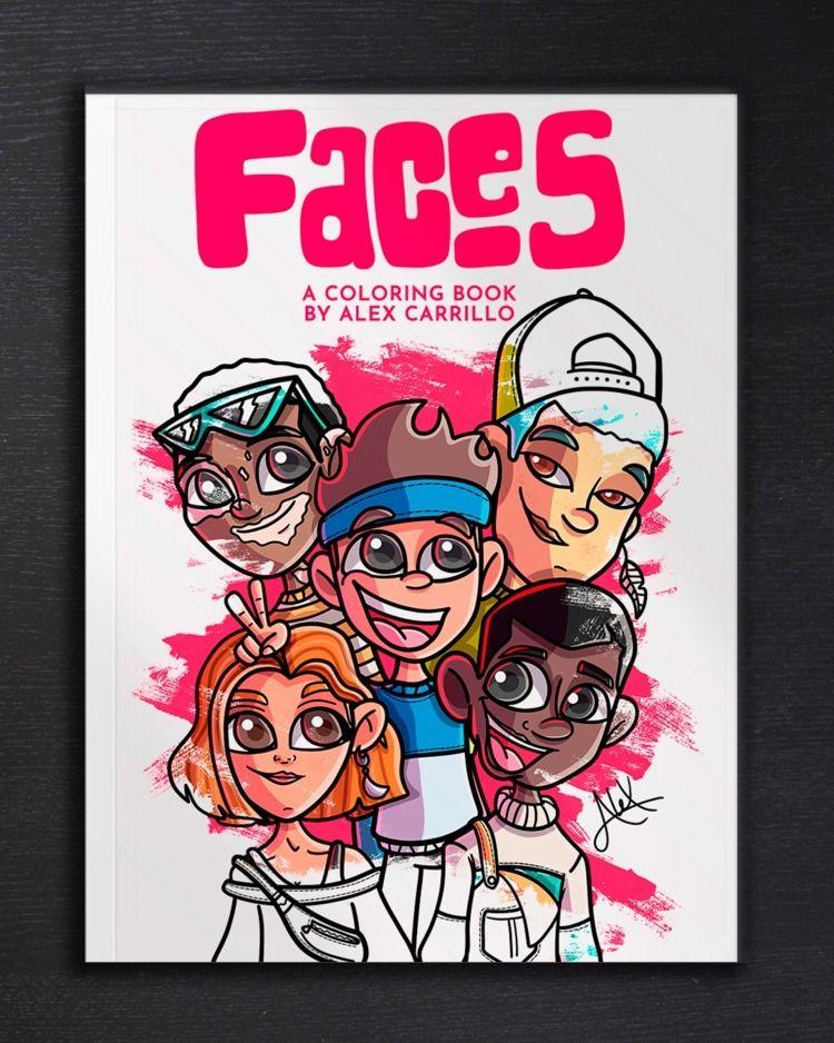 """finally """"FACES: Coloring Book A - alexcarrilloart   ello"""
