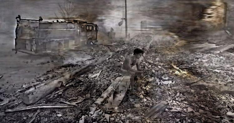 Man Lost 2020 Oregon Wildfires  - greycrossstudios | ello