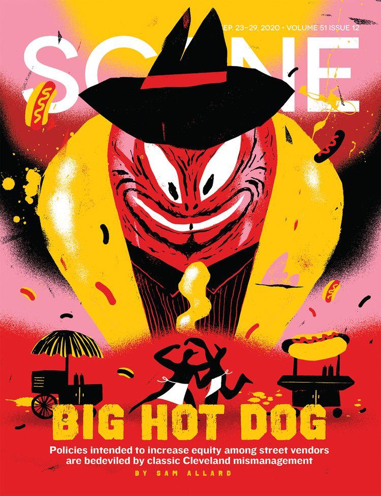 Hot dog cover illustration Clev - grossillustration | ello