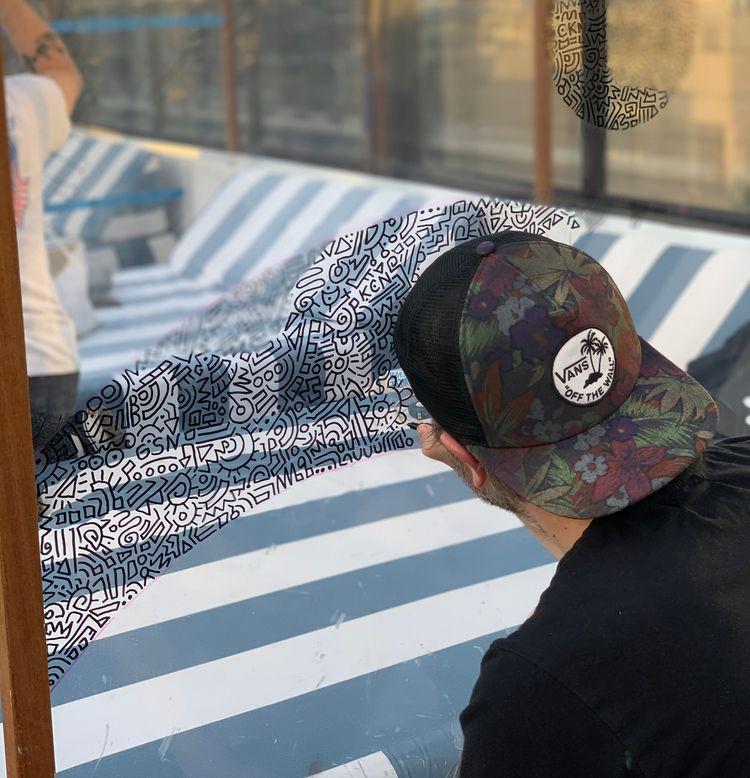 Outdoor art Soho Chicago. Oil-b - benjaminnelson | ello