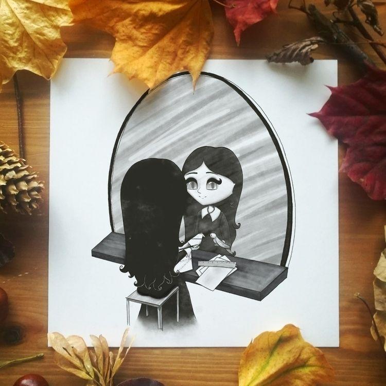 Day 2: Paper witch + Mirrored.  - arthermitdora | ello