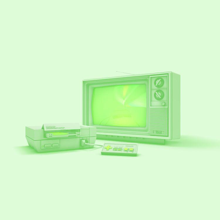 NES - 3D, C4D, Model, Nintendo - vjaimy | ello