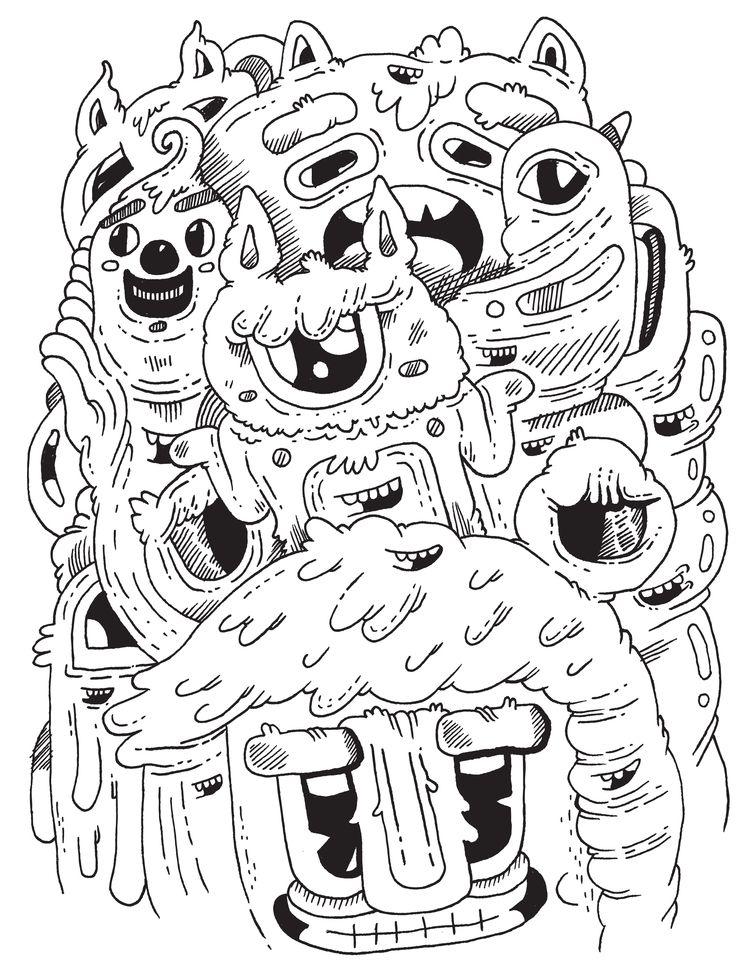 inktober = 8. Teeth - illustration - warholbot | ello