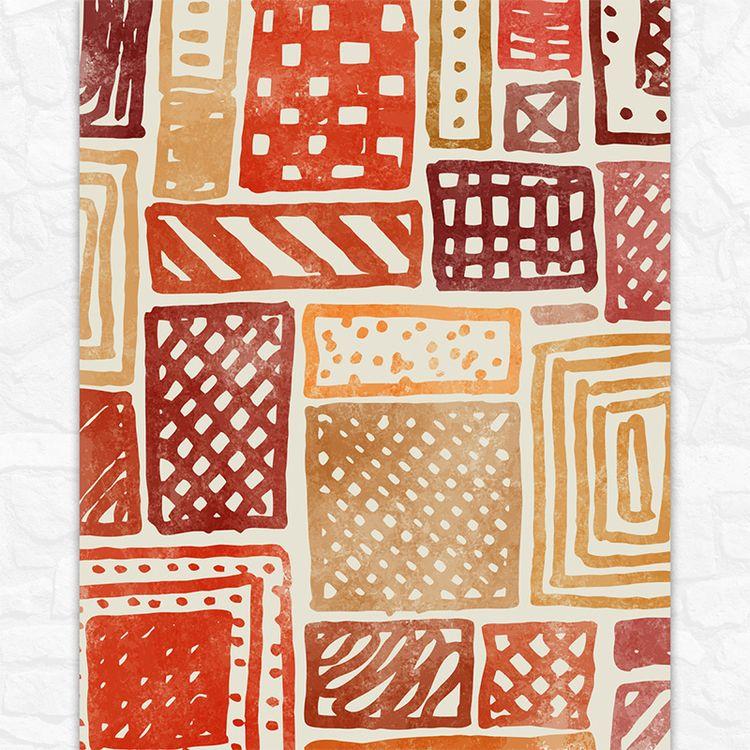 Burnt orange 11x14 abstract art - paulnikolasart | ello