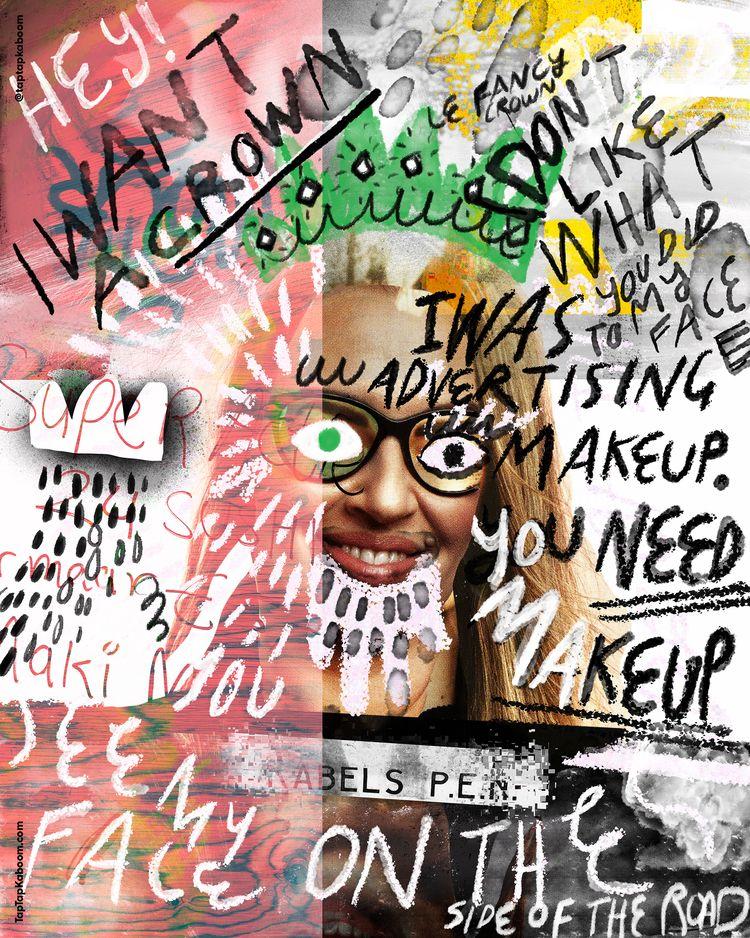 16 October 2020 Makeup ads - abstractillustration - taptapkaboom | ello