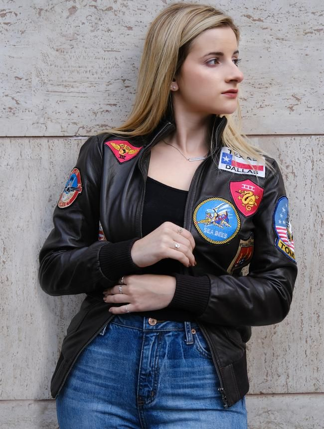 WOMENS MAVERICK TOP GUN BOMBER  - fanzillajackets | ello