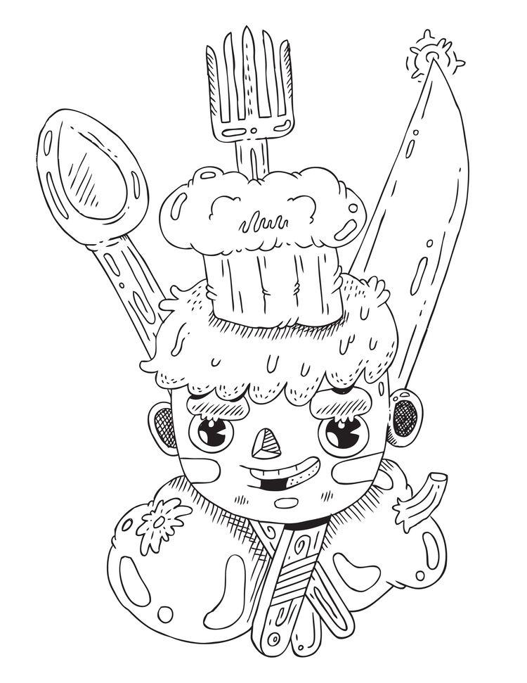 inktober - 22. Chef - illustration - warholbot | ello