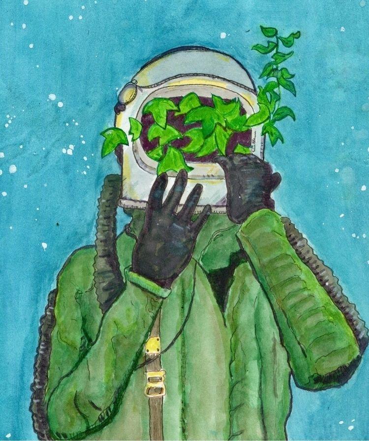 """""""Citizen dying planet - watercolor - gravesart   ello"""