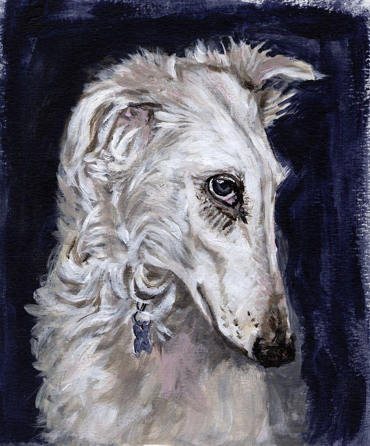 love Borzois? beautiful breed d - lorideboerdesigns   ello
