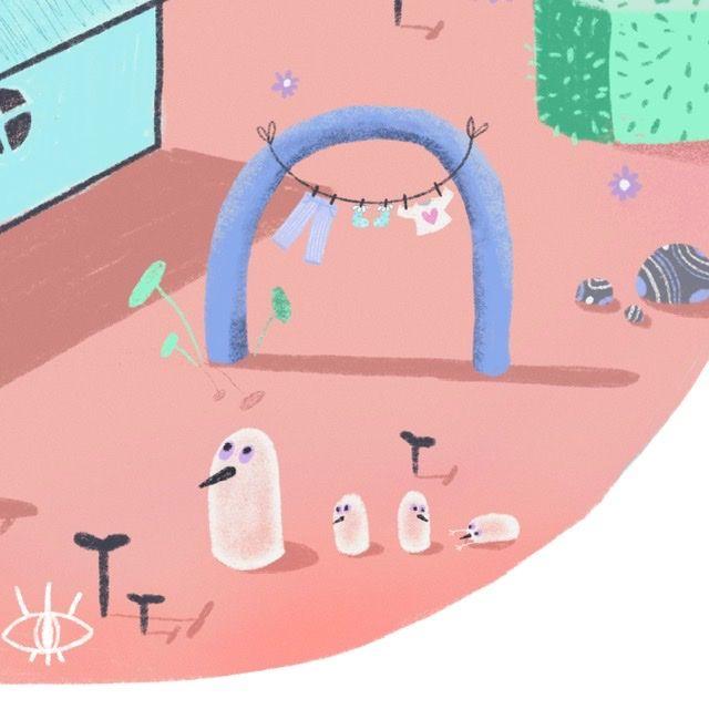 HOME - illustration, procreate, art - lesaventuriers | ello