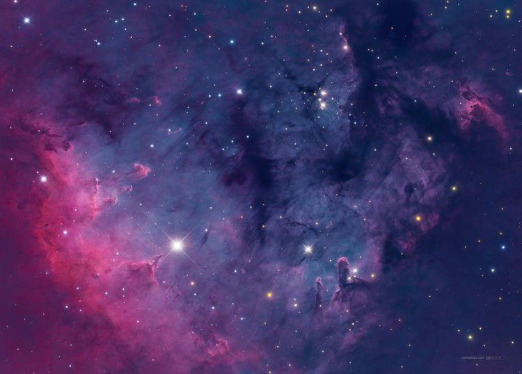 Cepheus Pilars (NGC7822) Hα-SII - carballada | ello