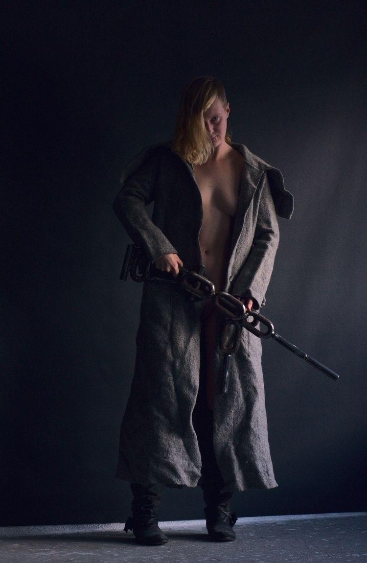 Binary gun grey coat 05114 - art - frango_artist | ello