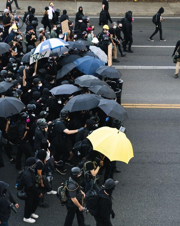 Labor Day, crowd gathered march - mikescaturo | ello