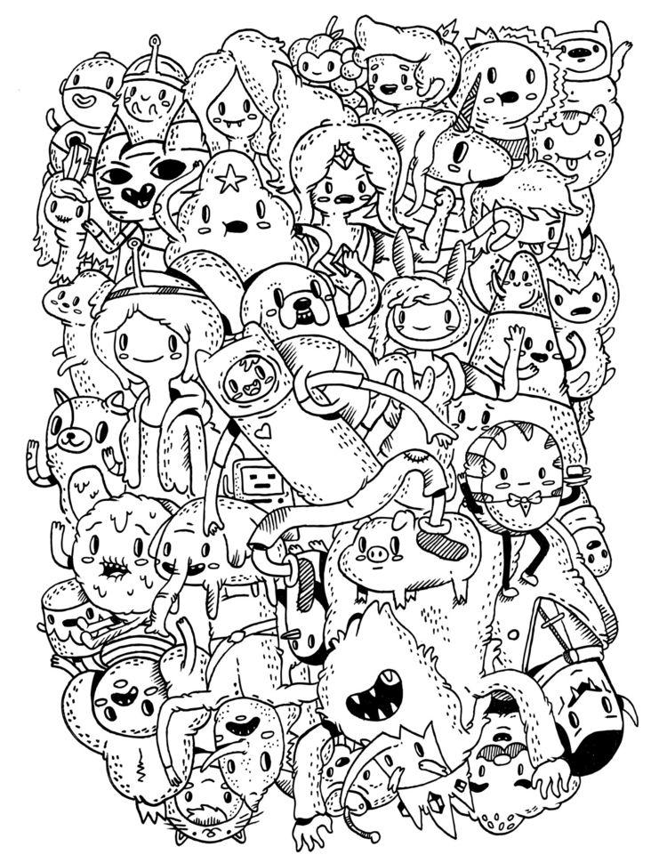 Adventure Time - illustration, fanart - warholbot   ello