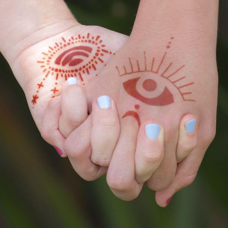 Evil Eye Henna Tattoo Palm Prot - mihenna | ello