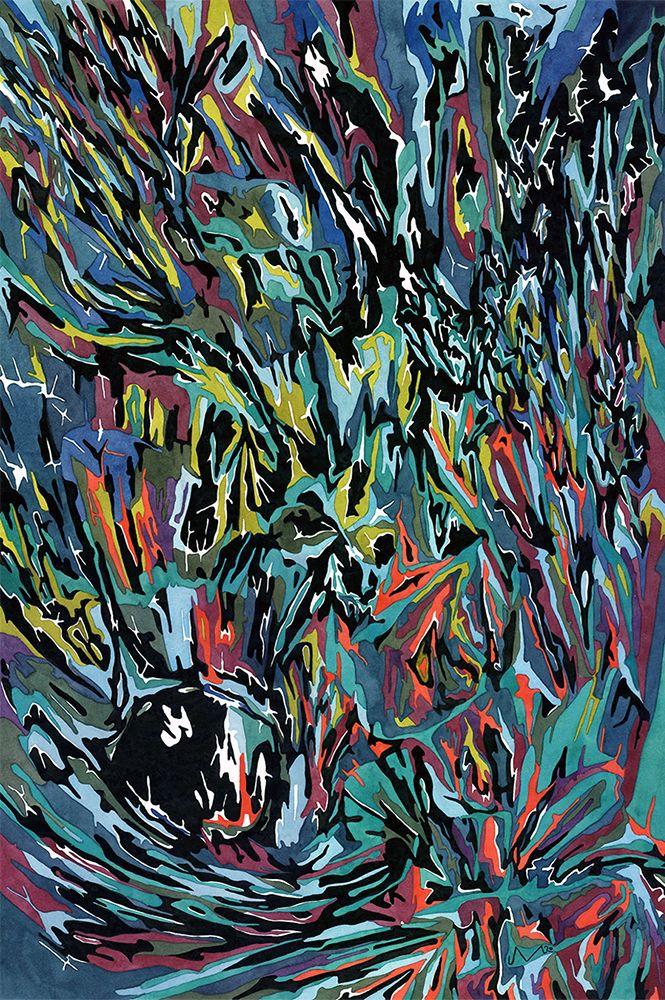 Bolide Watercolor gouache paper - jacobvanloon   ello