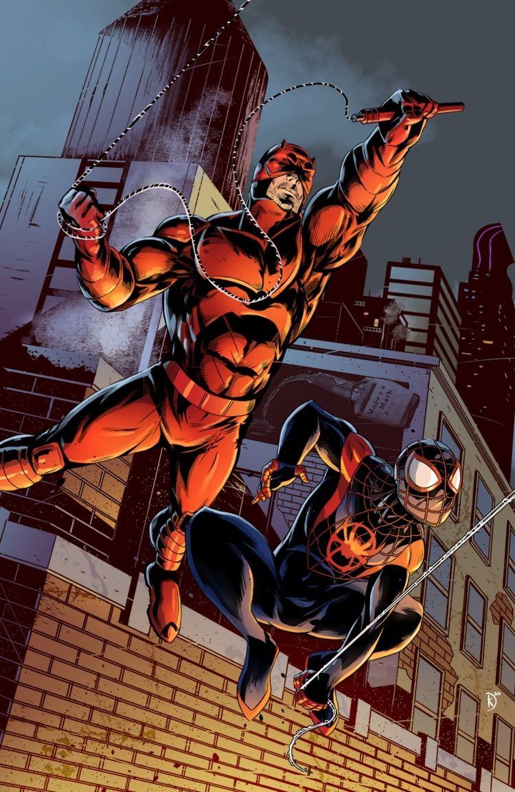 Daredevil Spidey save day - daredevil - universek | ello