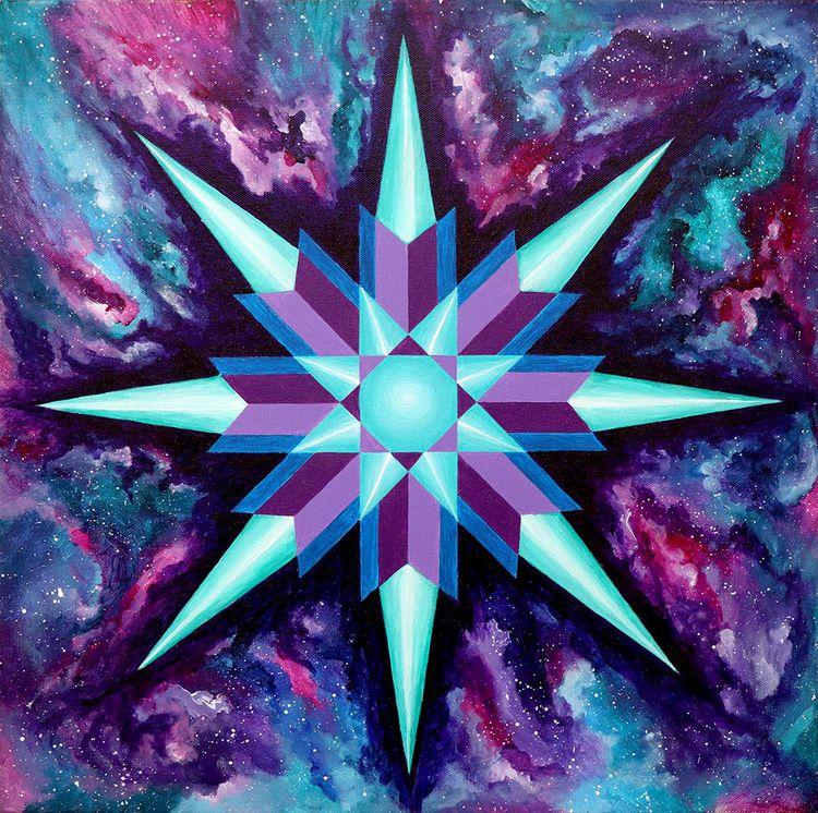 "Sacred Star Space Acrylic 20""x2 - leomysticmagic | ello"