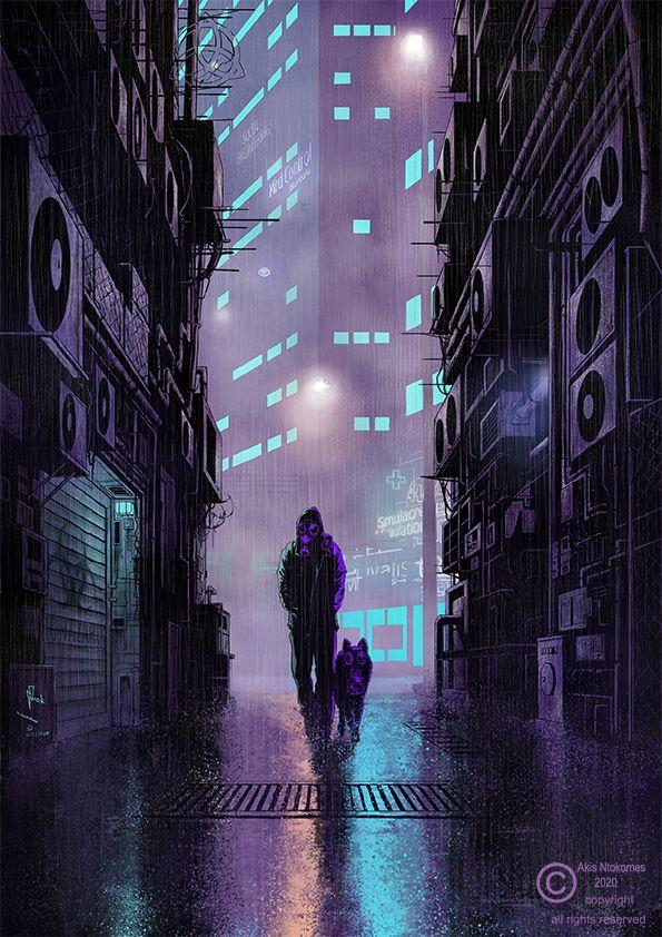 Good Evening Cyberpunk Dystopia - entok | ello