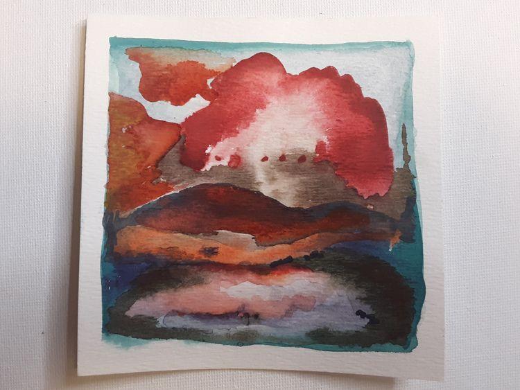 small measuring 4.5 inches - watercolor - solden   ello