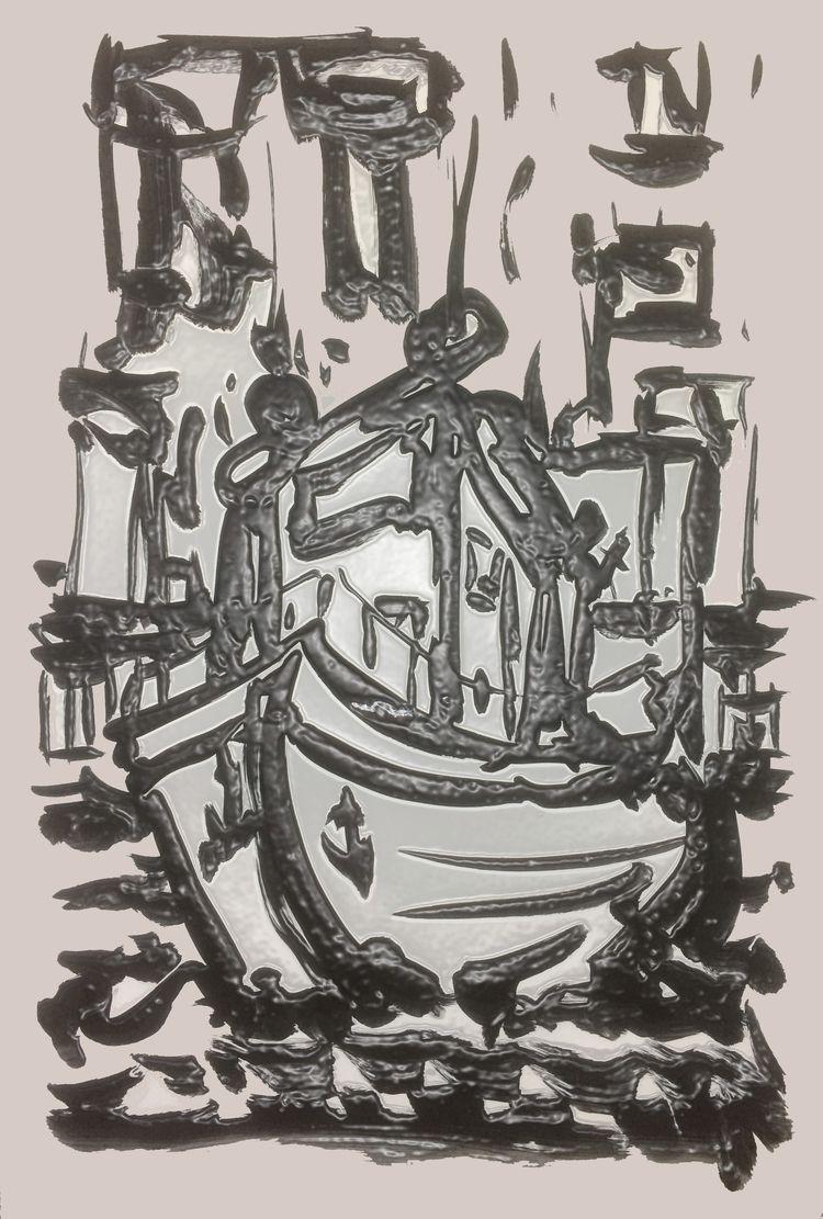 Print: Digi bewerkte penseel sc - ben-peeters | ello