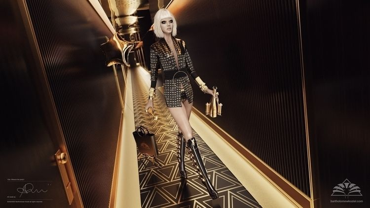 Fashion editorial 3d renders Cr - bartholomewkoziel   ello