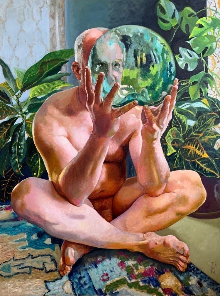 """Reflection"""" 40 30"""" oil canvas - malenude - ellenstarrlyon   ello"""