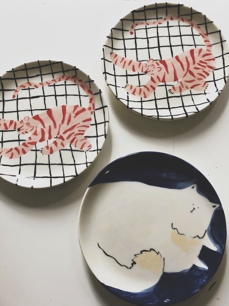 handmade ceramic plates - evigeo   ello