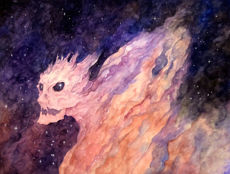 head. Watercolor painting 50 70 - juliusllopis | ello